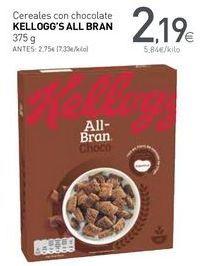 Oferta de Cereales con chocolate KELLOGG'S ALL BRAN por 2,19€