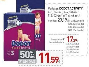 Oferta de Pañales DODOT ACTIVITY  por 23,19€