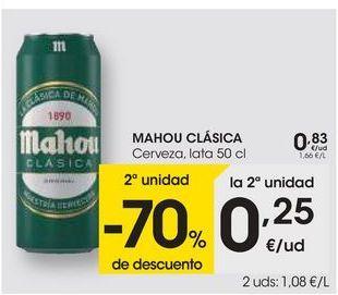 Oferta de MAHOU CLÁSICA Cerveza, lata 50 cl por 0,83€