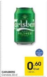 Oferta de CARLSBERG Cerveza, 33 cl por 0,6€