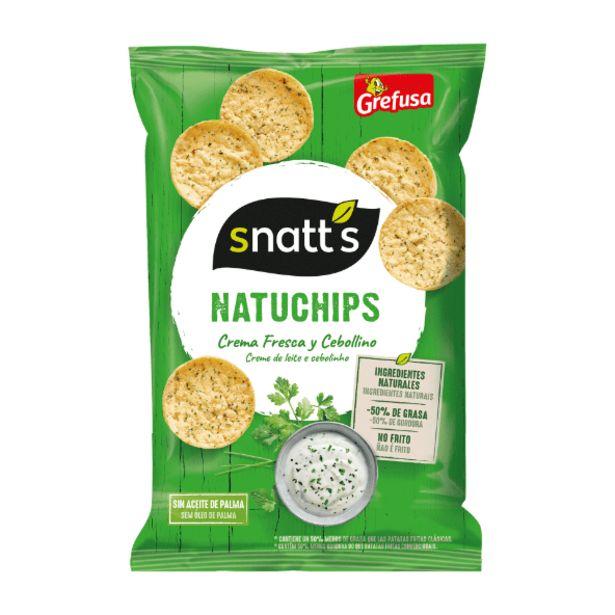 Oferta de Natuchips crema fresca y cebollino por 1€