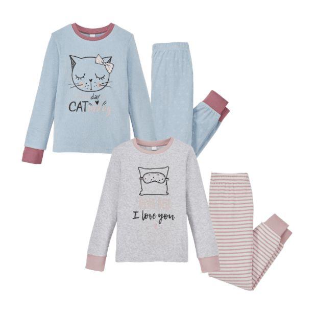 Oferta de Pijama de rizo para niña por 7,99€