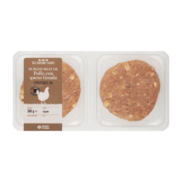 Oferta de Burguer meat de pollo premium con queso Gouda por 1,99€
