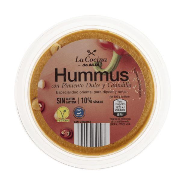 Oferta de Hummus con pimiento dulce y guindilla por 0,75€