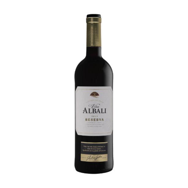 Oferta de Vino tinto Reserva D.O.P. Valdepeñas por 3,15€