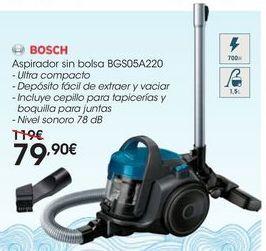 Oferta de Aspirador sin bolsa BGS05A220 por 79,9€