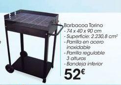 Oferta de Barbacoa Torino por 52€