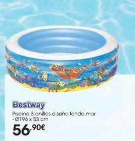 Oferta de Piscina 3 anillos diseño fondo mar por 56,9€