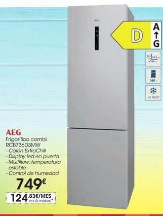 Oferta de Frigorífico combi RCB736D3MW por 749€