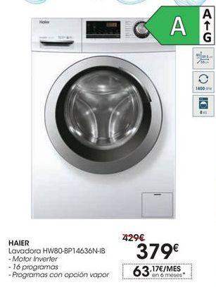Oferta de Lavadora HW80-BP14636N-IB por 379€