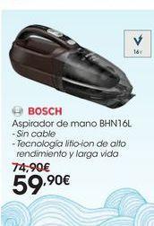 Oferta de Aspirador de mano BHN16L por 59,9€