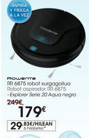 Oferta de Robot aspirador RR 6875-Explorer Serie 20 Aqua negro por 179€