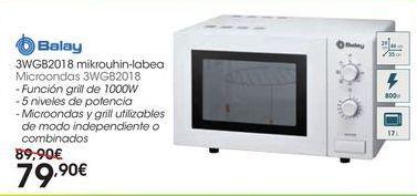 Oferta de Microondas 3WGB2018 por 79,9€