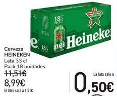 Oferta de Cerveza HEINEKEN  por 8,9€
