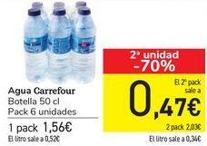 Oferta de Agua CARREFOUR  por 1,56€