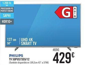 Oferta de PHILIPS TV50PUS7555/12 por 429€