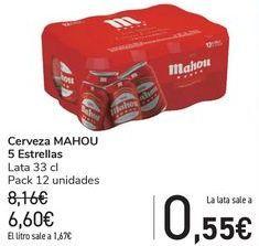 Oferta de Cerveza MAHOU 5 Estrellas  por 6,6€