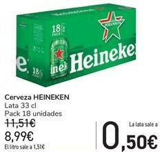 Oferta de Cerveza HEINEKEN  por 8,99€
