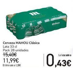 Oferta de Cerveza MAHOU Clásica  por 11,99€