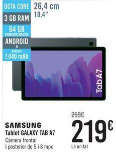 Oferta de SAMSUNG Tablet GALAXY TAB A7  por 219€