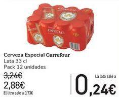 Oferta de Cerveza Especial Carrefour  por 2,88€