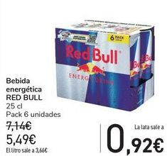 Oferta de Bebida energética RED BULL por 5,49€