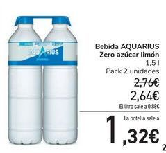 Oferta de Bebida AQUARIUS Zero azúcar limón por 2,64€