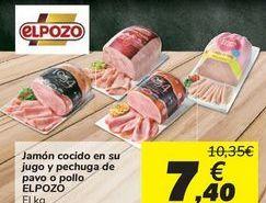 Oferta de Jamón cocido en su jugo y pechuga de pavo o pollo ELPOZO por 7,4€