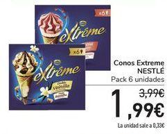 Oferta de Conos Extreme NESTLÉ por 1,99€