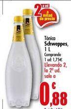Oferta de Tónica Schweppes 1L por 1,75€