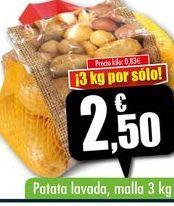 Oferta de Patata lavada, malla 3kg por 2,5€