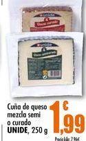 Oferta de Cuna de queso mezcla semi o curado UNIDE, 250g por 1,99€