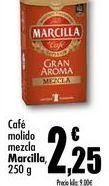 Oferta de Café molido mezcla Marcilla, 250g por 2,25€