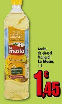 Oferta de Aceite de girasol Masiasol La Masía, 1L por 1,45€