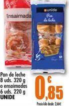Oferta de Pan de leche 8 uds. 320g o ensaimadas 6 uds. 220g UNIDE por 0,85€