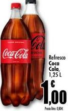 Oferta de Refrescos Coca-Cola, 1,25L por 1€