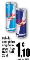 Oferta de Bebida energética original o sugar free Red Bull, 25cl por 1,1€