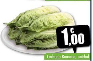 Oferta de Lechuga romana, unidad por 1€