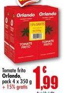 Oferta de Tomate frito Orlando pack 4x350g por 1,99€