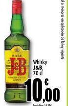 Oferta de Whisky J&B, 70cl por 10€