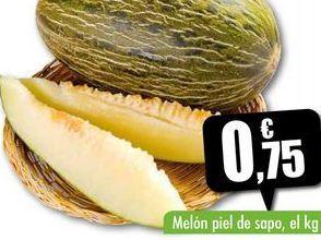 Oferta de Melón piel de sapo, el kg por 0,75€