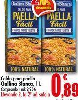 Oferta de Caldo para paella Gallina Blanca, 1L por 2,95€