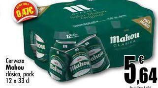 Oferta de Cerveza Mahou clasica, pack 12 x 33cl por 5,64€