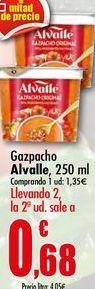 Oferta de Gazpacho Alvalle, 250 ml por 1,35€