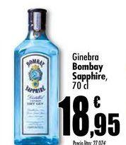 Oferta de Ginebra Bombay sapphire, 70cl por 18,95€