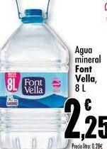 Oferta de Agua mineral Font Vella, 8L por 2,25€