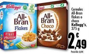 Oferta de Cereales All-Bran flakes o choco Kellogg's, 375g por 2,49€