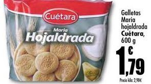 Oferta de Galletas Maria hojaldrada Cuétara, 600g por 1,79€