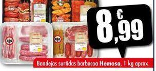 Oferta de Bandejas surtidas barbacoa Hemosa, 1 kg aprox. por 8,99€