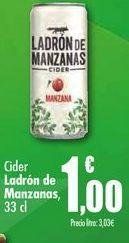 Oferta de Cider Ladrón de Manzanas, 33cl por 1€